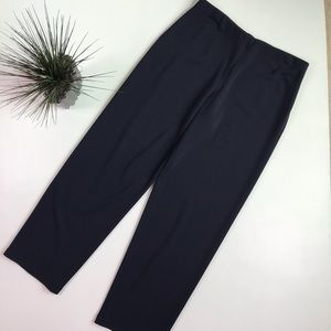 Eileen Fisher Viscose Wool Knit Navy Pants
